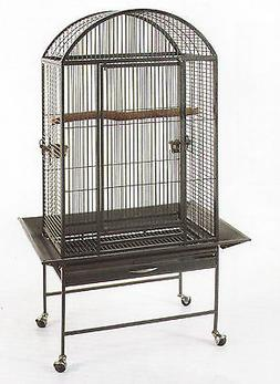 New Large Wrought Iron Bird Cage Parrot Cages Macaw Dome Top