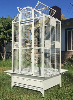 """63"""" Large Elegant Wrought Iron Dome Play Top Parrot Macaw Co"""