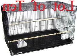 Lot of Ten Breeding Canary Budgie Aviary LoveBird Bird Cages