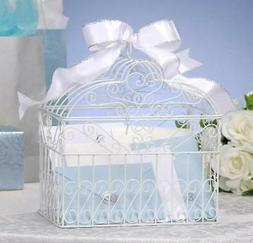 NEW DARICE METAL BRIDAL WEDDING BIRDCAGE CARD HOLDER WISHING