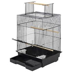 """NEW Pet Supplies 24"""" Bird Cage W/Open Play Top- Ideal for Pa"""
