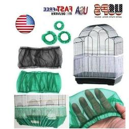 New Seed Catcher Guard Mesh Bird Cage Cover Shell Skirt Trap