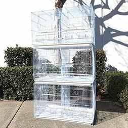 Set of 3 Large Breeding Breeder Bird Carrier Cage With Centr