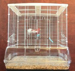 NEW Transparent Clear Bird Cage For Canary Parakeets Cockati