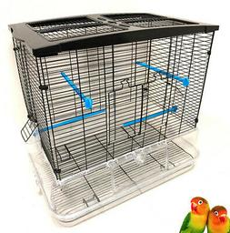 LARGE No Mess Clear Bird Flight Cage For Canary Cockatiels L