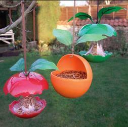 Novelty Fruity Bird Feeder Outdoor Hanging Plastic Fruit See