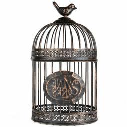 Antique Bird Cage Old Fashion Vintage Metal Pet House Yard R
