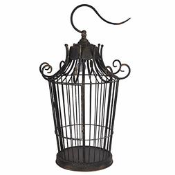 Benzara Old-World Styled Birdcage Table Lamp, new