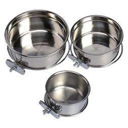 Omni Pet Stainless Steel Coop Cup  food or Water Bowl For Do