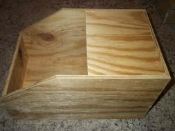 ONE MEDIUM RABBIT WOOD NEST BOX 10X16X9 WITH LID PET BIRD CA