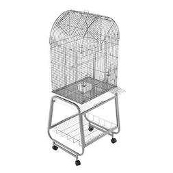 A and E Opening Dometop Bird Cage Black