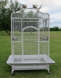 Large Open Play Top Bird Parrot Cage Cockatiel Macaw Conure