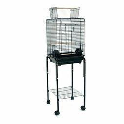 Open Roof Canary Finch Cockatiel Parakeets Bird Cage with St