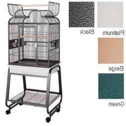 HQ's Opening Scroll Cage, Small Parrot Cage With Cart Stand,