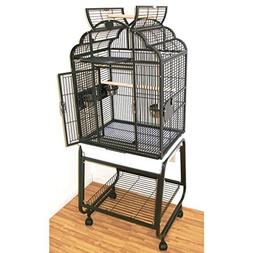 Hq Opening Victorian Parrot Cage with Cart Stand, Small, Pla