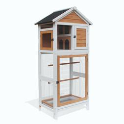 Lovupet Outdoor Aviary Bird Cage Wooden Vertical Play House