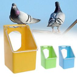 Pet Transparent Hanging Water Food Feeder Pigeons Bird Cage
