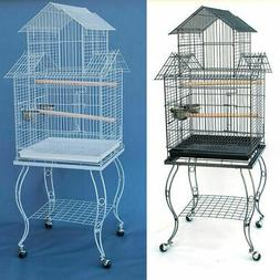 Pagoda Bird Parrot Cage with Stand Cockatiel Amazon African