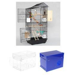 Parakeet Budgie Cool Nesting House Box Cage Breeding for Lov