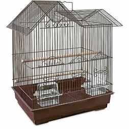 You&Me Parakeet Ranch House Cage, Brown, 16.5 in
