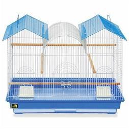Bird Cage Parakeet Shelter Habitat Triple Roof Flight Pullou
