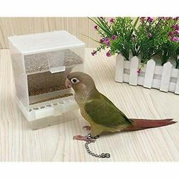 Birds Parrots Feeder No Mess Automatic for Cage Indoor//Outdoor Use Accessories