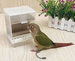 Old Tjikko Parrot Automatic Feeder,No-Mess Bird Feeder,Cage
