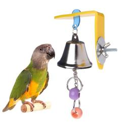 Parrot Bell Toys Birds Chewing Hanging Cage Bite Accessories