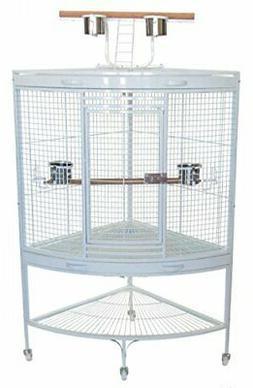 Parrot Bird Cage, White