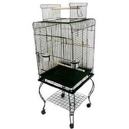 Brand New Parrot Bird Cage Cages Play W/Stand L24xW16xH53 *B