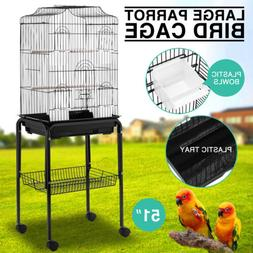 Parrot Bird Cage Cockatiel Lovebird Finch Aviary Pet House S
