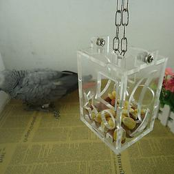 Parrot Bird Cage Feeder Hang Foraging Toy For Pet Treat Hunt