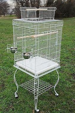 PARROT BIRD CAGE w STAND - 901 White Vein