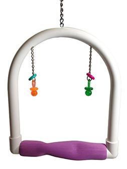 FeatherSmart Parrot Bird Medium PVC Swing