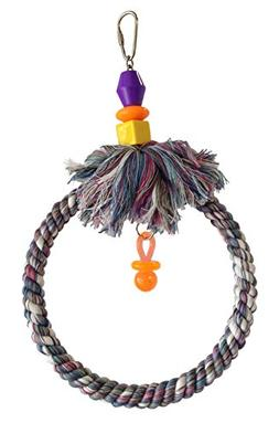 "FeatherSmart SMALL 6"" Parrot Bird Rope Swing"
