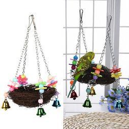 Parrot Bird Swing Hanging Chew Toy Parakeet Budgie Cockatiel