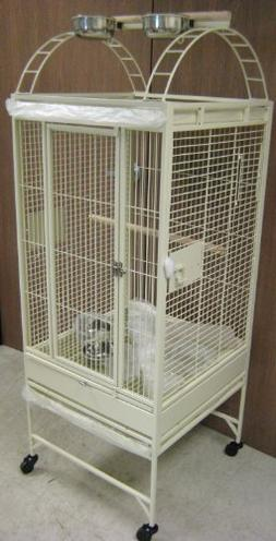 New Parrot Bird Wrought Iron Cage 18x18x53 Play-Top *Egg She