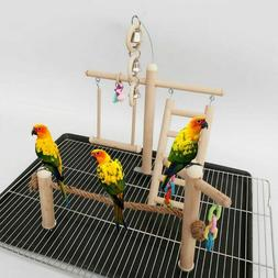 Parrot Cage Stand Play Gym Perch Playground Bird Climbing La