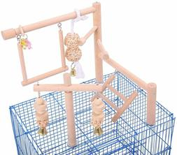 Parrot Cage Toys/ Stand/ Perch/ Ladder Wood Bird Cage Access
