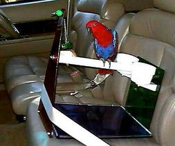Parrot CAR SEAT / TABLE PERCH  cups toy pedicure perch maint