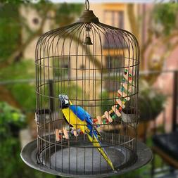 Parrot Chew Toys Step Ladder Flexible Wooden Swing Bridge fo