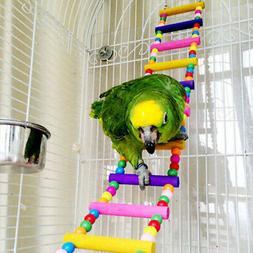 Parrot Climbing Ladder Wooden Swing Bridge Bird Cage Hanging