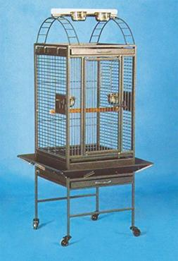New Parrot Cockatiel Bird Wrought Iron Cage Open Play-Top Bl