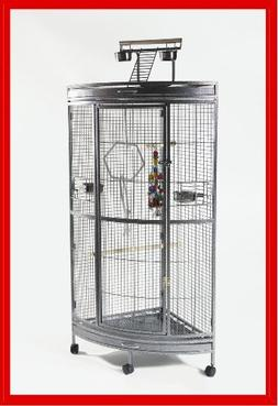 Paradise Parrot Corner Cage Wrought Iron African Grey Brand