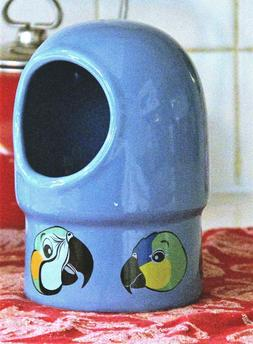 """Parrot """"Super Pet""""  Large Bird Cage Ceramic Hooded Food Wate"""