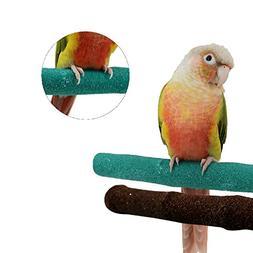 Borange Parrot Perches Bird Stand Natural Wood Quartz Sand B