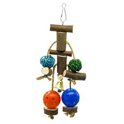 Parrot Pet Bird Chew Cages Hang Toys Wood Playing Rope Cave