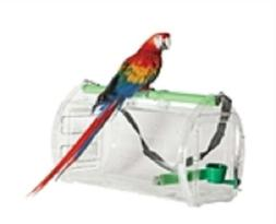 Parrot Pet Bird Macaw Travel Cage Carrier See Through Panels