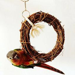 Parrot Pet Swing Hanging Budgie Cockatiel Stand Perches Funn