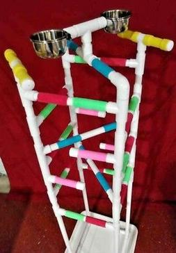 """Parrot Play Gym  58"""" """"TOWER"""" FLOOR PERCH  Stand 3/4"""" PVC ***"""